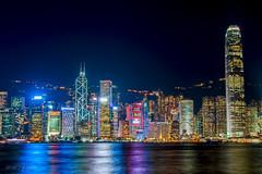 Hong Kong. View on the island at the night