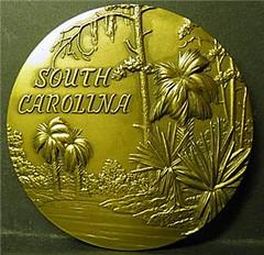 Chester Martin Brookgreen Gardens medal reverse