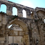 Diocletian palace wall, City Center, Split, Croatia