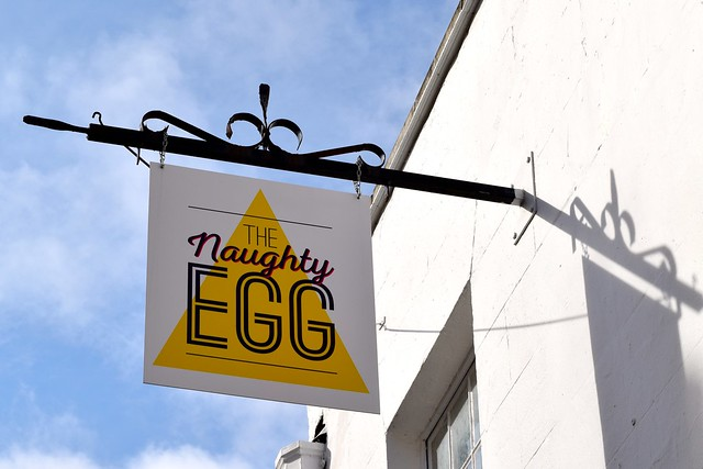Logo Sign at The Naughty Egg, Canterbury | www.rachelphipps.com @rachelphipps