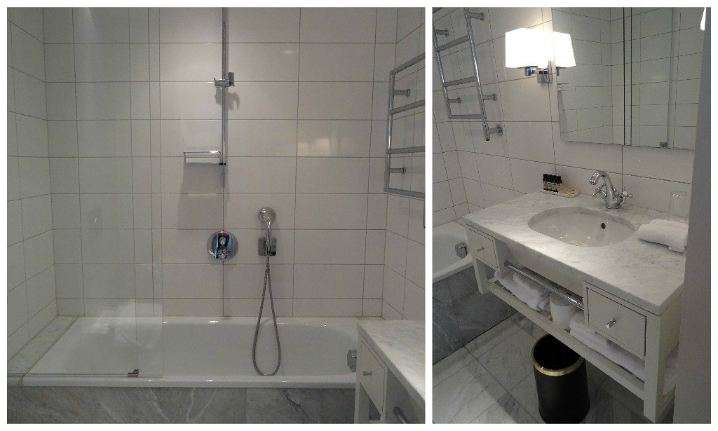 Bathroom at the Hotel Diplomat Stockholm
