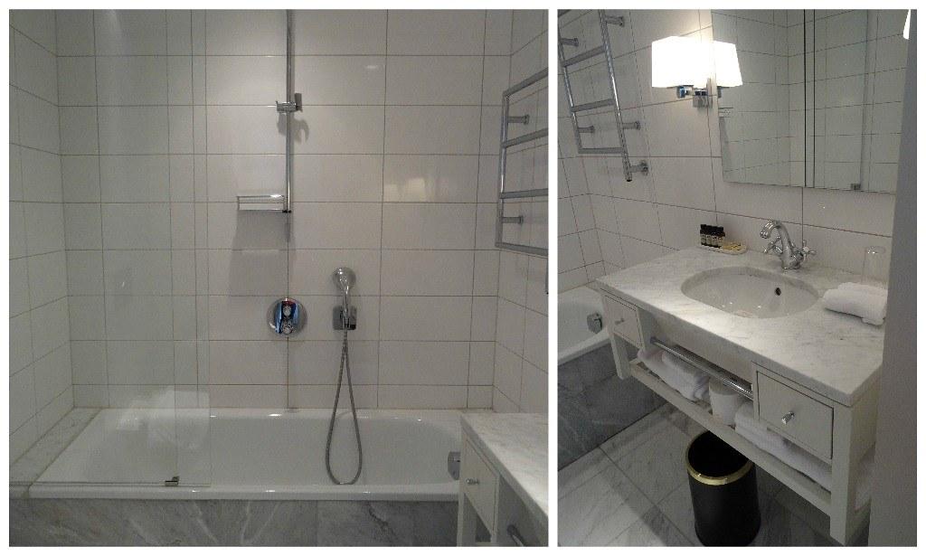 Bathroom at the Hotel Diplomat Stockholm