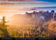 Germany - Saxony - Saxon Switzerland National Park -  Bastei at Sunrise