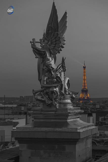 Eiffel tower , Opéra Garnier