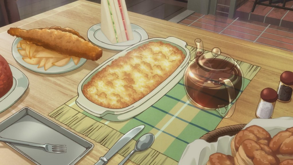 chise's first meal in England