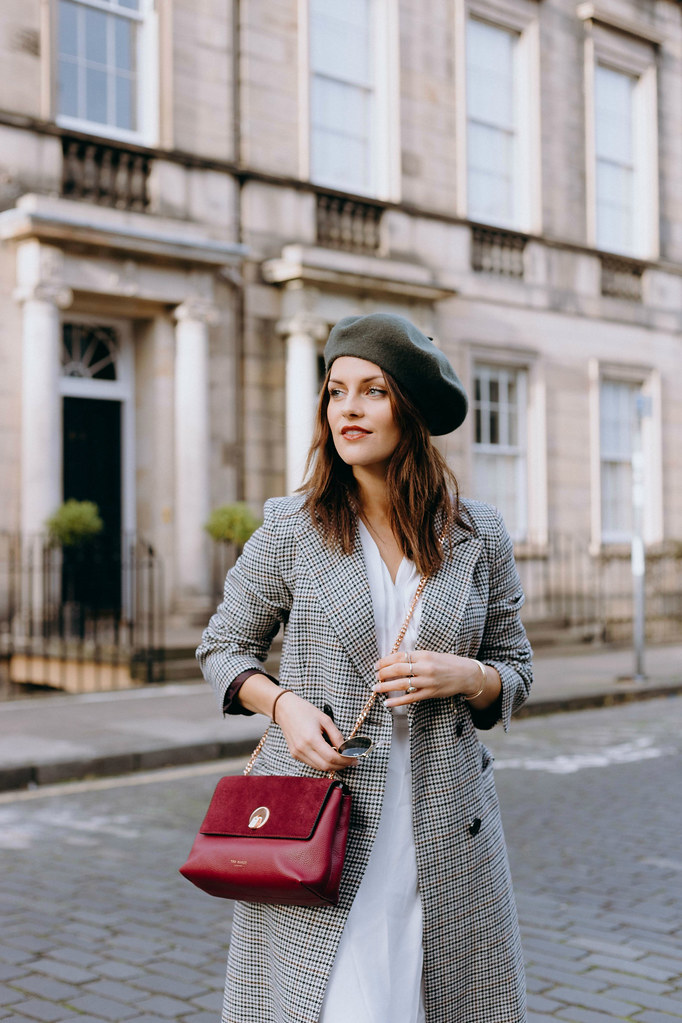 The Little Magpie Topshop Checked Coat