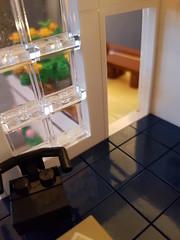 Cuboid Garden House MOC second floor interior close-up