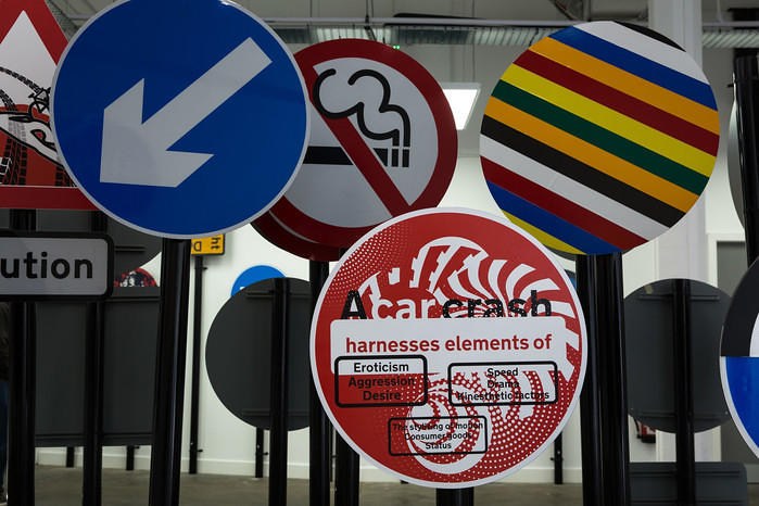 British Road Signs at Humber Street Gallery. Photo © James Mulkeen.
