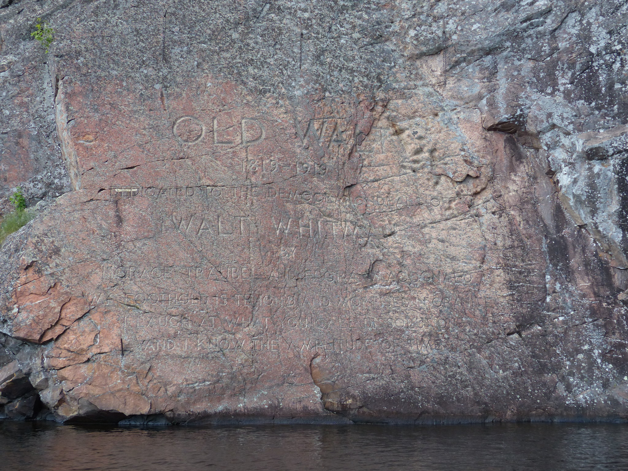 Bon Echo Provincial Park Walt Whitman tribute