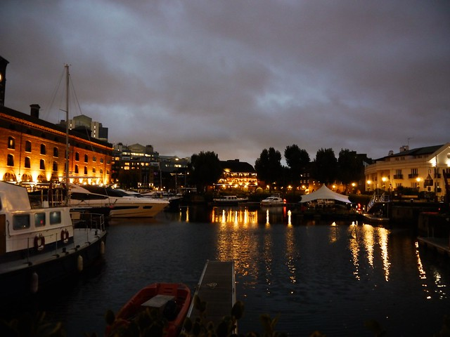 St Katherine's Dock at night