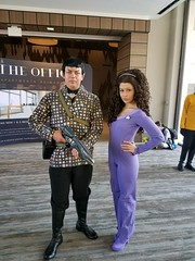 Romulan Commander and Counselor Deanna Troi