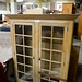 Large solid wood glass display unit E310
