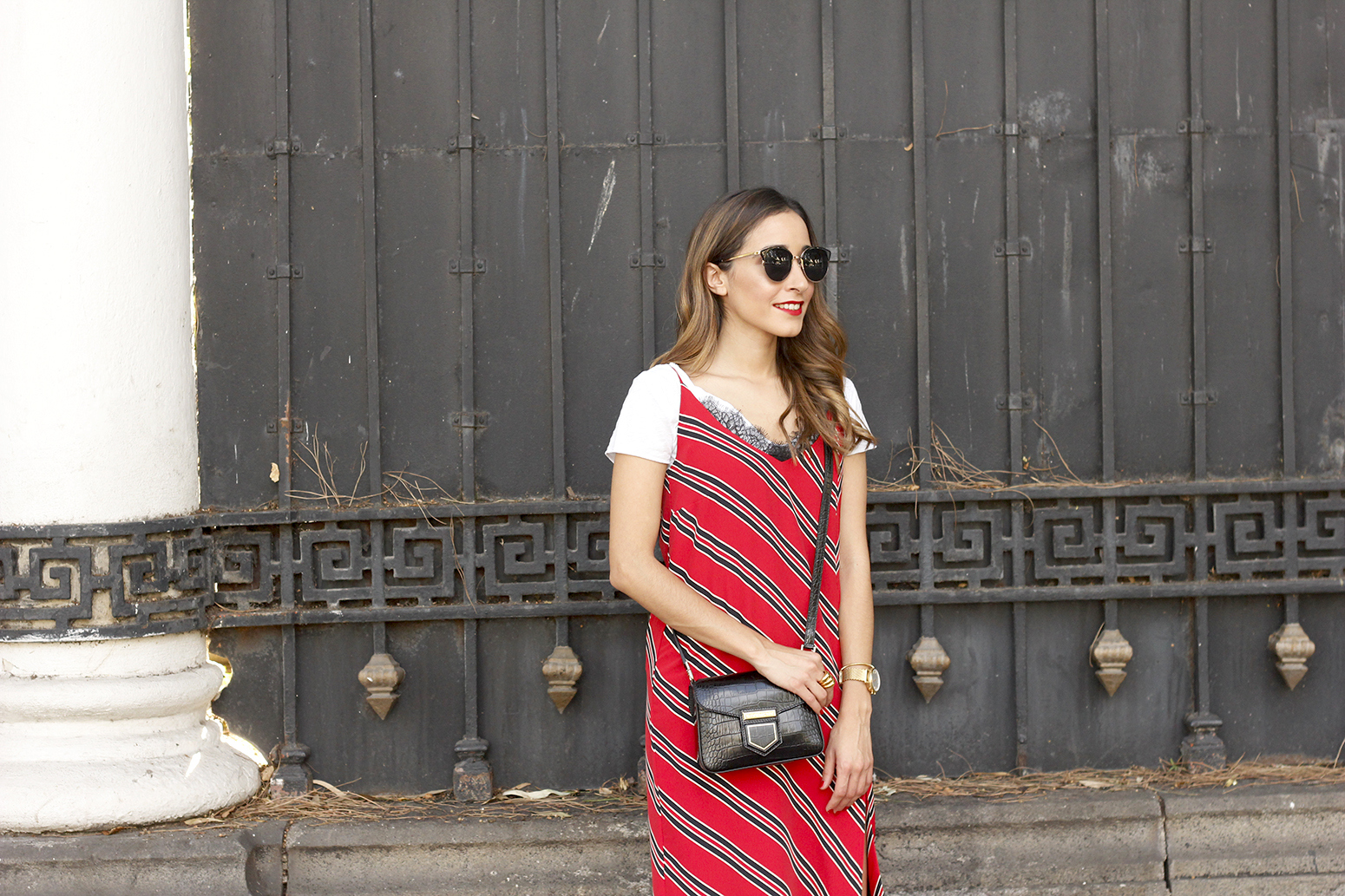 Striped midi dress T-shirt givenchy dress converse outfit trend style fashion11