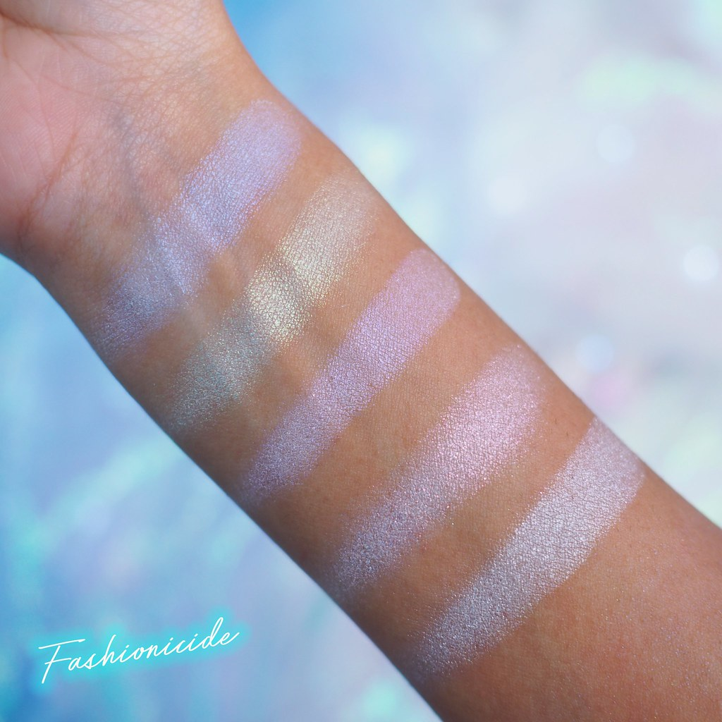L'Oreal Holographic Glow Kit Swatches