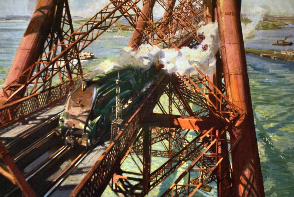 Affiche pour le transport en train du Musée National d'Ecosse à Edimbourg