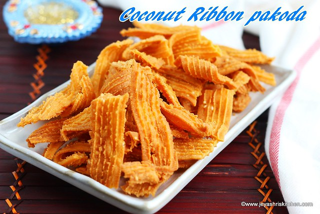Coconut ribbon pakoda