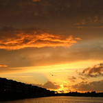 Dramatic clouds at Preston Docks