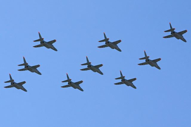 第1航空団 第31教育飛行隊 T-4による大編隊飛行 IMG_4147_2