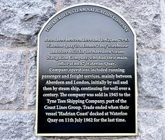 Steam Navigation Company Plaque - Aberdeen Harbour Scotland 12/10/17