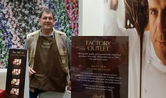 Chocolate zen master Kevin Dayhoff at your service at the Lindt Chocolate Factory Outlet in Carlisle Pa. 14 Oct 2017