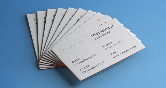 Stack of Business Cards Mockup 4