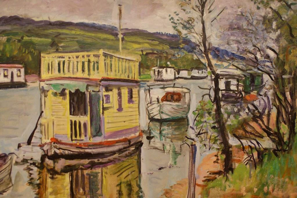 > Peinture du Loch Lomond au musée Kelvingrove de Glasgow.