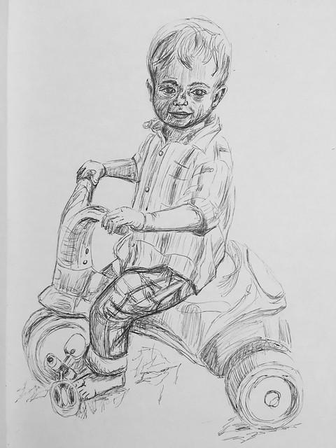 Boy and Trike