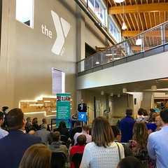 Grand opening dedication ceremony for the Northwest Cary YMCA / Crosspointe Church project today in Cary, NC. @visioneeringstudios #visioneeringstudios #wearevisioneering #envisiondesignbuild #architecture #design #creative #creativechurch #churchdesign #