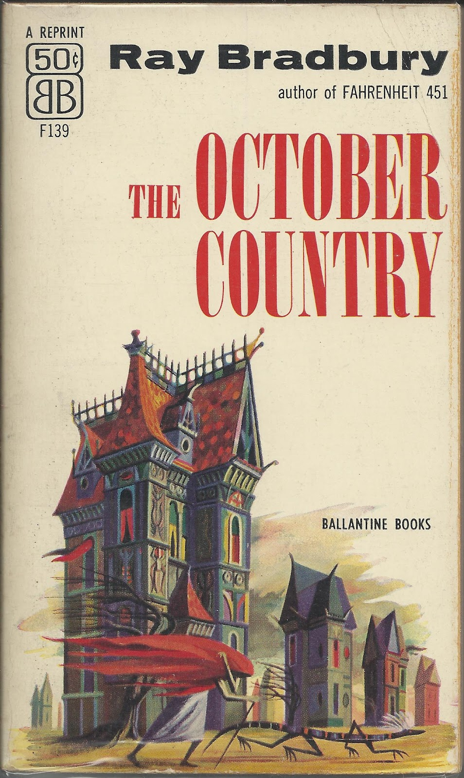 Joseph Mugnaini - The October Country by Ray Bradbury, (cover version two) 1955