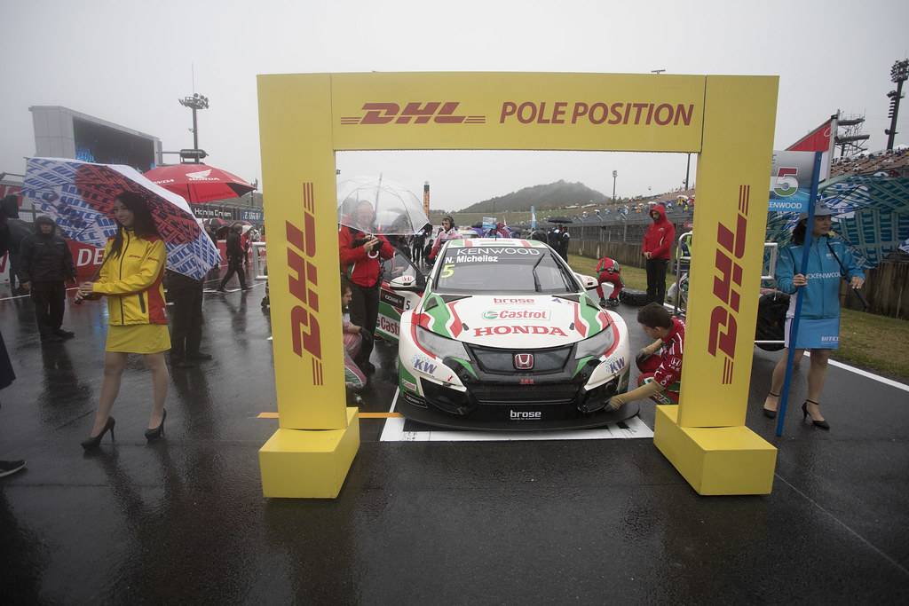 DHL pole position 05 MICHELISZ Norbert (hun) Honda Civic team Castrol Honda WTC action during the 2017 FIA WTCC World Touring Car Championship race at Motegi from october 27 to 29, Japan - Photo Gregory Lenormand / DPPI