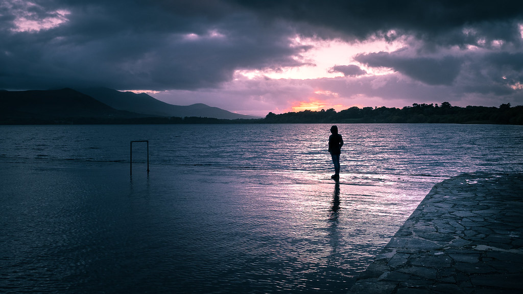 Lough Leane at sunset, Killarney, Ireland picture