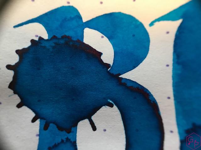 Ink Shot Review @RobertOsterInk Blue Water Ice @MilligramStore 10