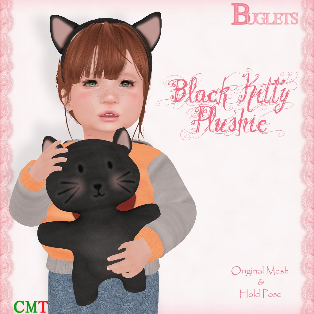 Black Kitty Plushie AD