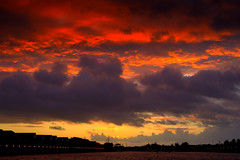 Red sky at night at Preston
