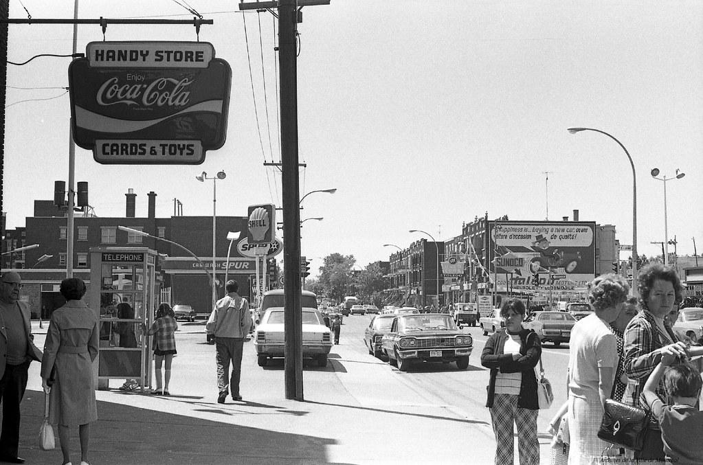 Verdun. Ave Bannantyne. 1973. Photo de Patricia Ling. P132-2_071-016. Archives de la Ville de Montréal.