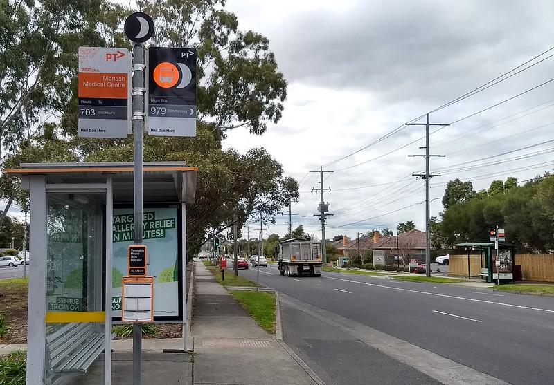 Bus stop in East Bentleigh