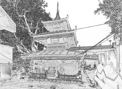 Nepal - Kathmandu - Temple - 311c