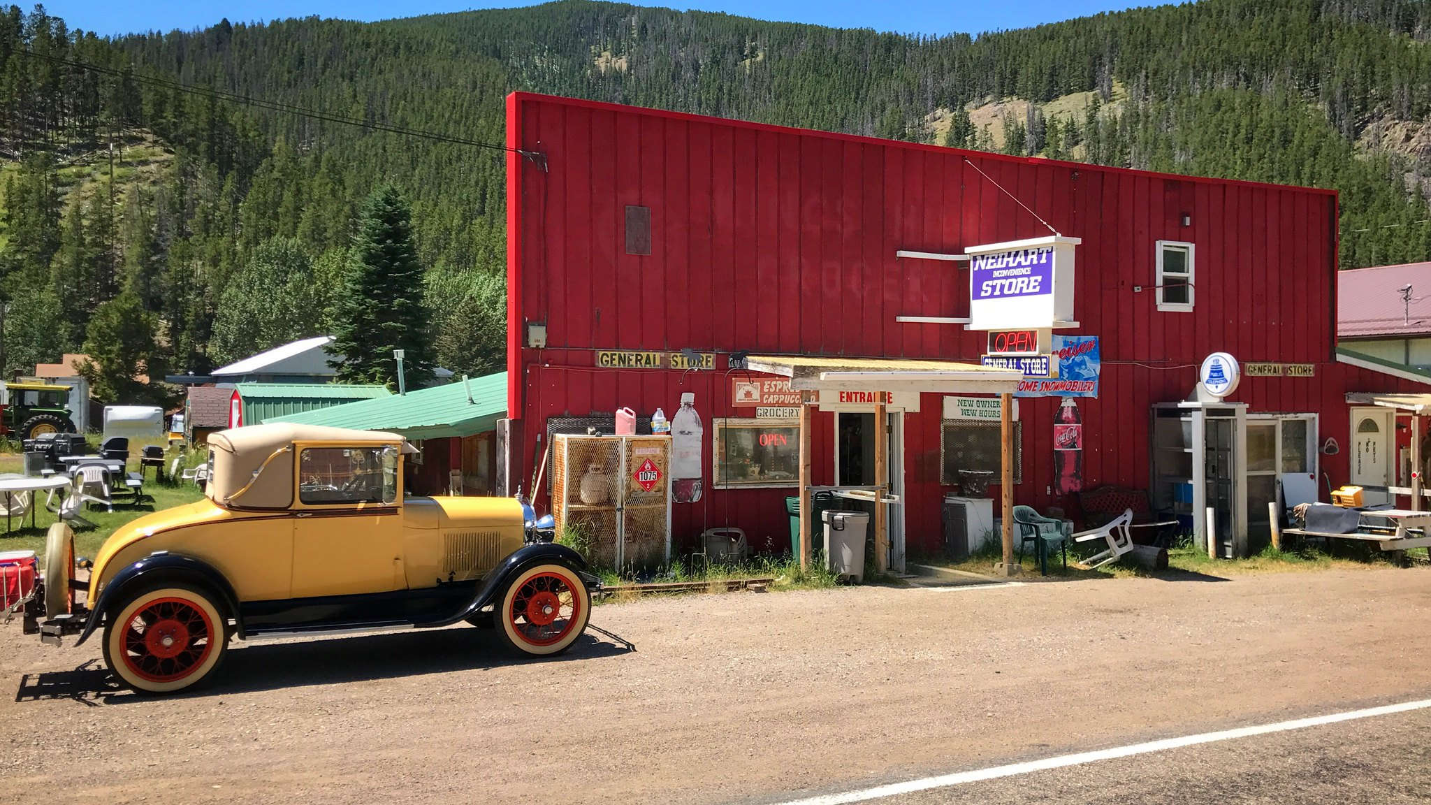 The Inconvenience Store has a good stock of groceries and supplies, located in Neihart, Montana - Cascade County on Highway 89.