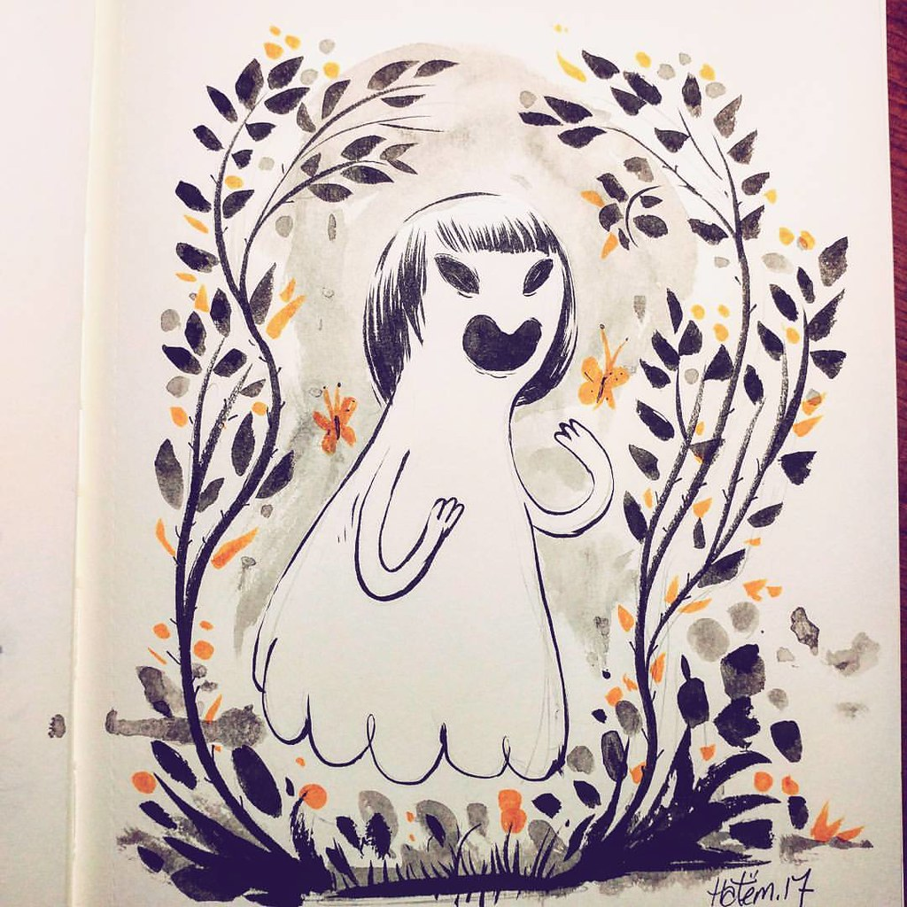 The final #inktober2017 #inktober fir this year . Happy Halloween y'all!! 🎃 👻