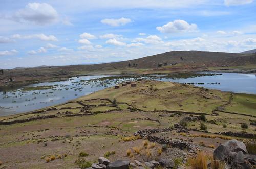 In den Senken sammeln sich die Niederschläge in flachen Seen