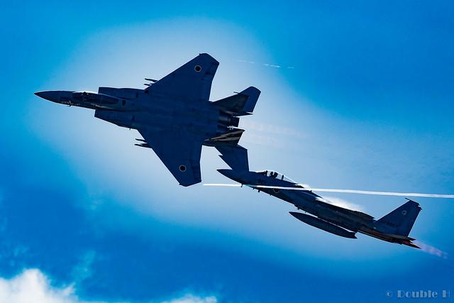 Komatsu AB Airshow Rehearsal 2017.9.14 (8) 303SQ F-15J #878 & #827