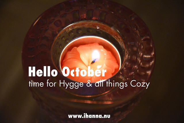 Hello October, time for hygge, a blog post from iHanna #danish #swedish