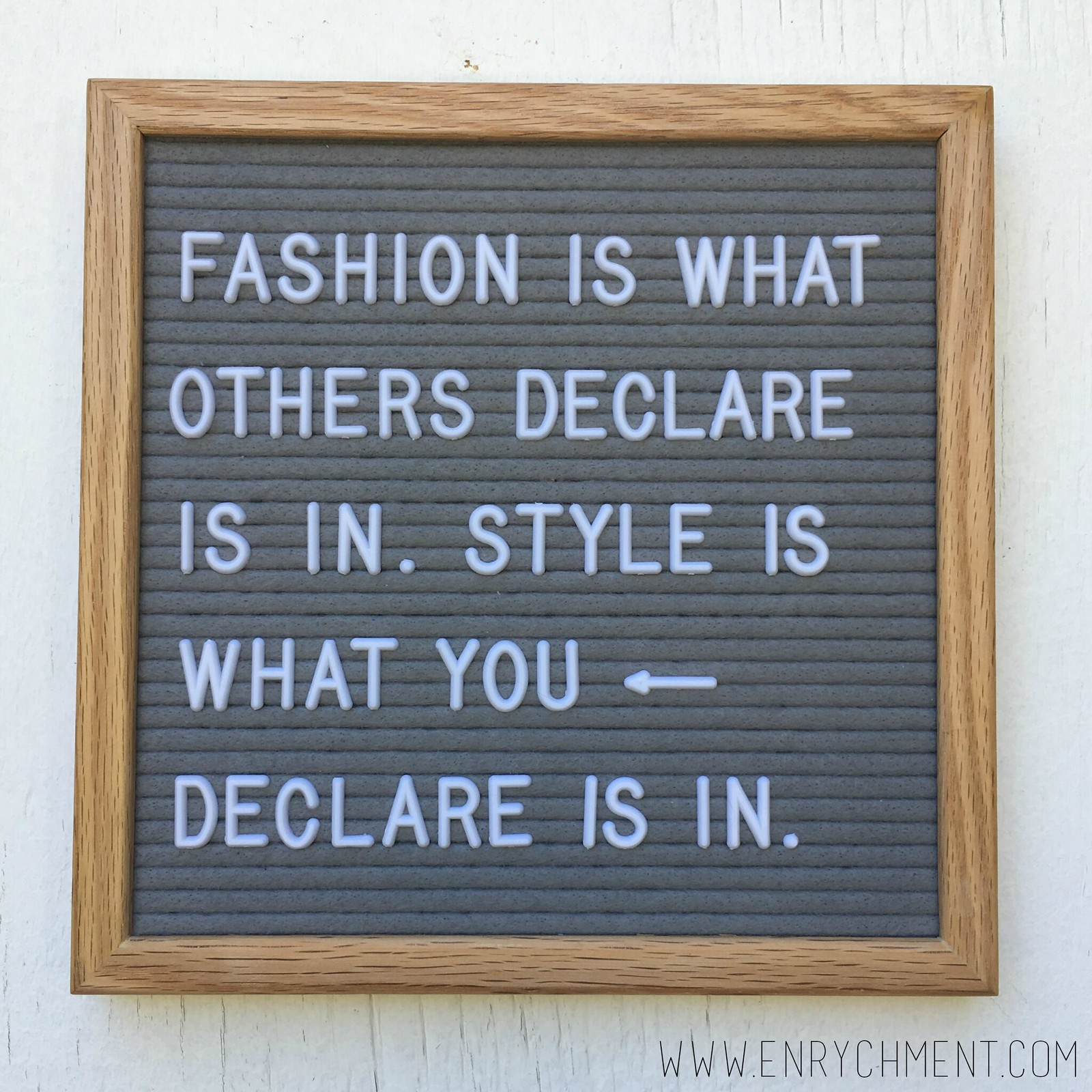 Letterboard Fashion Quote