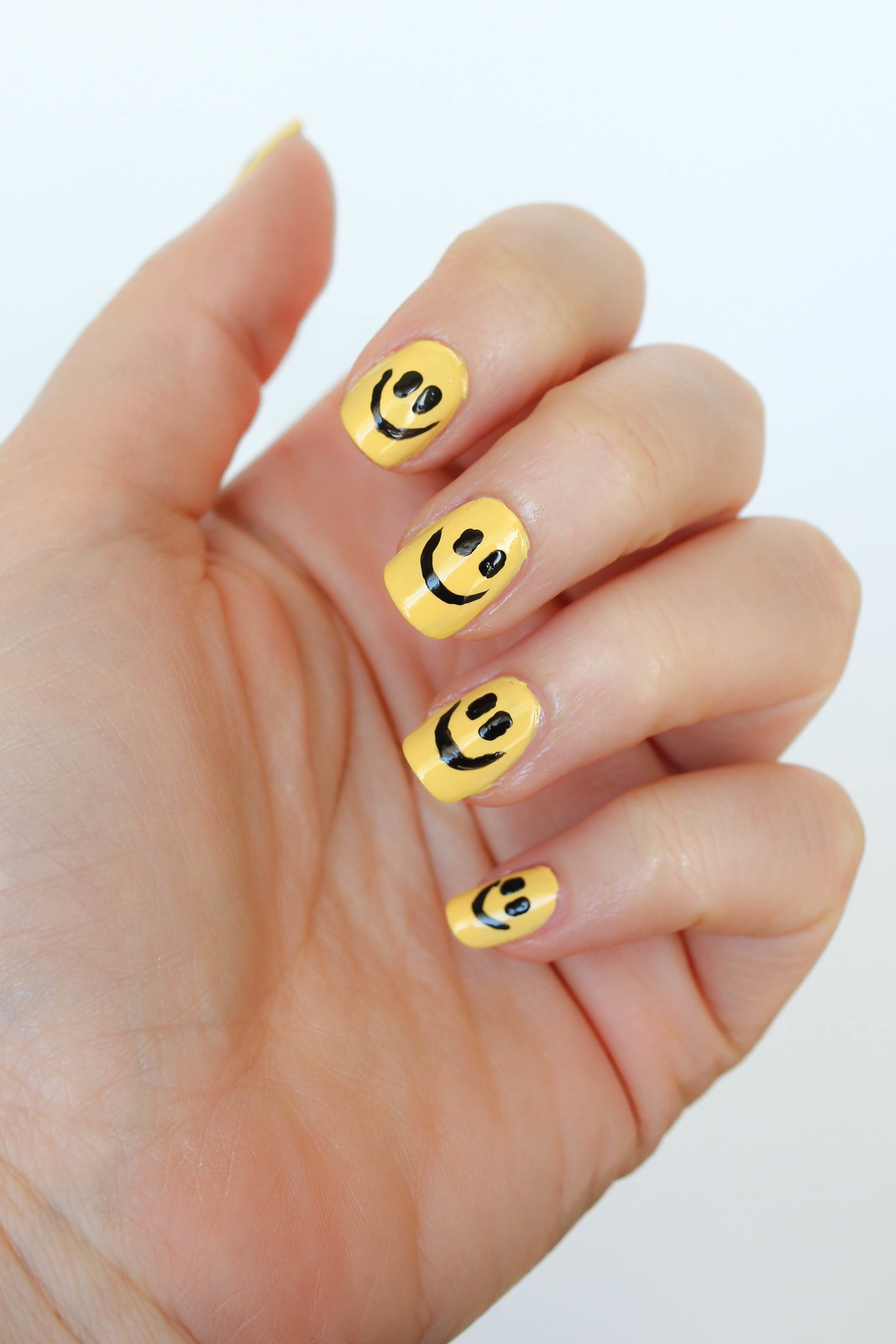 Smiley Face Manicure Nails 3 Ways to Celebrate World Smile Day