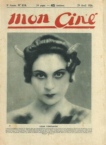 Lilian Constantini (Mon Ciné, 1926)