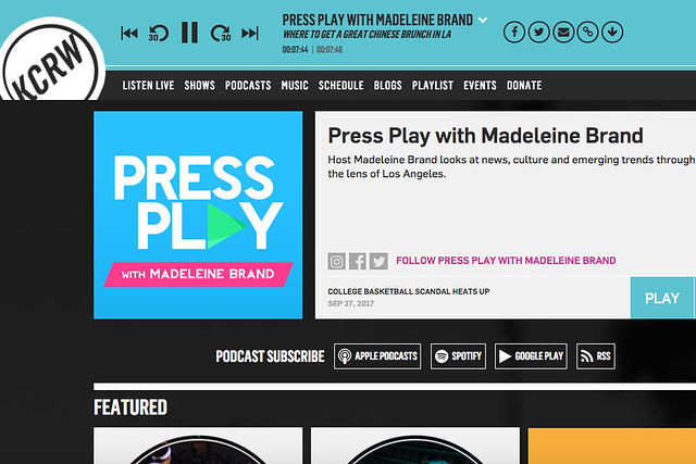 Press Play with Madeleine Brand | Chinese Breakfast