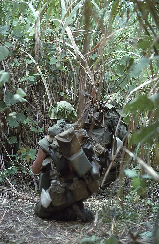 Marines Move Through the Jungle, 1968