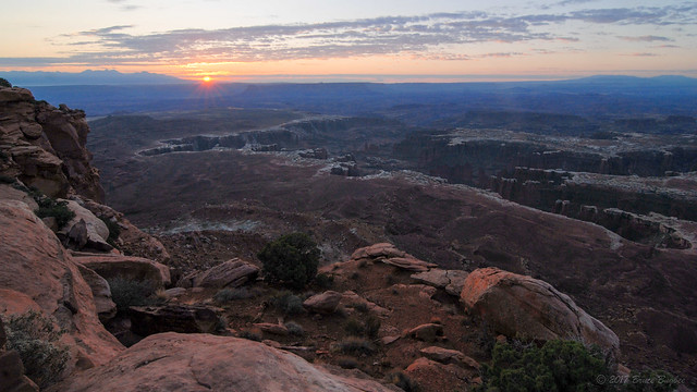 Sunrise at Grand View Overlook - Canyonlands NP