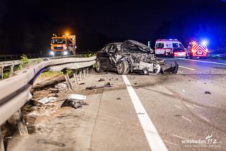 Geisterfahrerunfall A67 Rüsselsheim 23.09.17