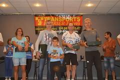 Podium catégorie master 1 masculin, 1er Christophe ARBOUSSET (ACN Anduze), 2eme Didier SYLVESTRE (AC2A), 3eme Christophe NEDZA - Photo of Saint-Jean-de-Serres